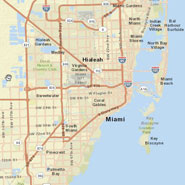 Miami-Dade County map