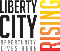 Liberty City Rising -- Opportunity Lives Here logo