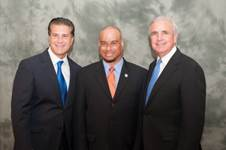 City of Hialeah Mayor Carlos Hernandez, Town of Miami Lakes Councilman Ceasar Mestre and Miami-Dade County Mayor Carlos A. Gimenez.
