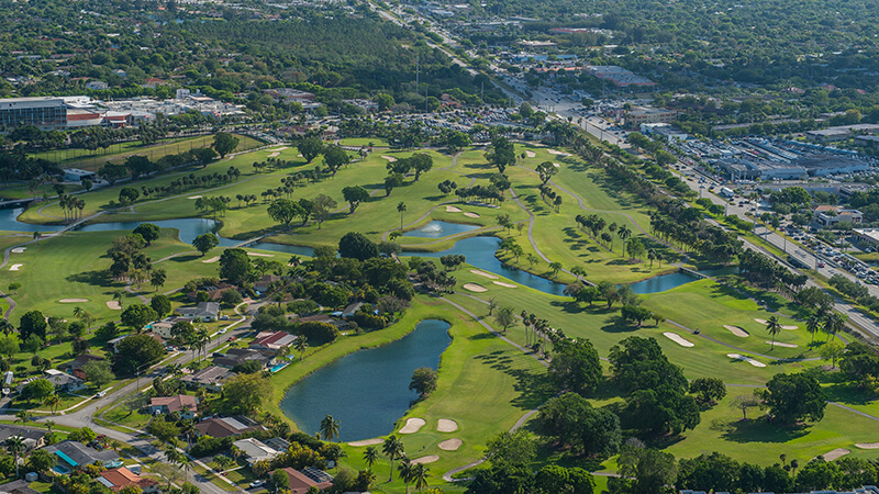 Aerial shot of Palmetto Bay