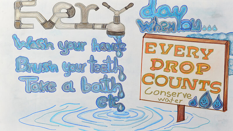 Every Drop Counts Poster