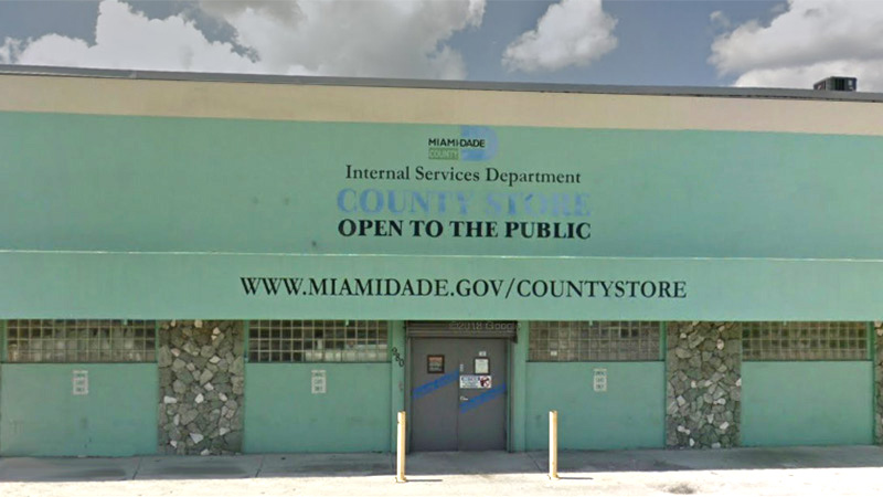 Exterior of Miami-Dade County Store